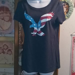 American Eagle red, white & blue T-shirt
